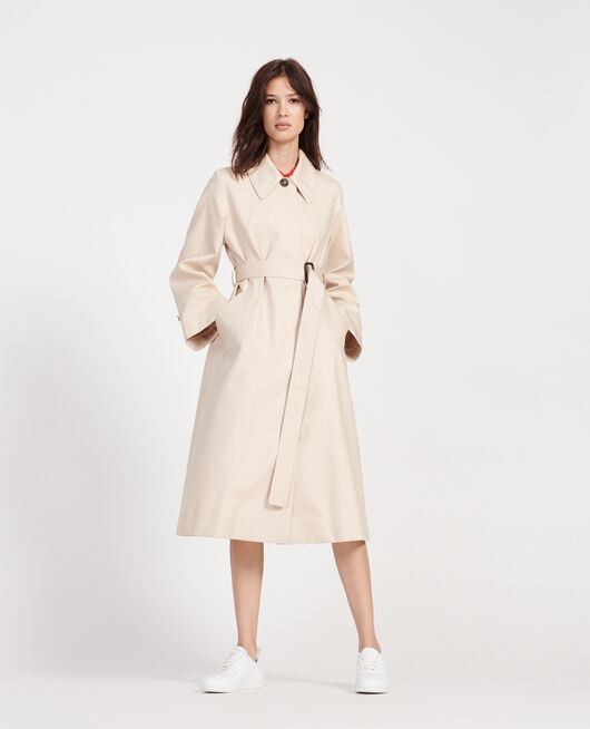 Cotton overcoat  SMOKE GRAY