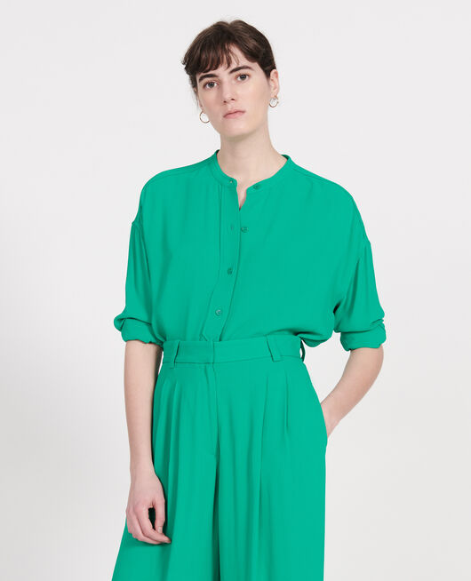 Straight-cut blouse GOLF GREEN