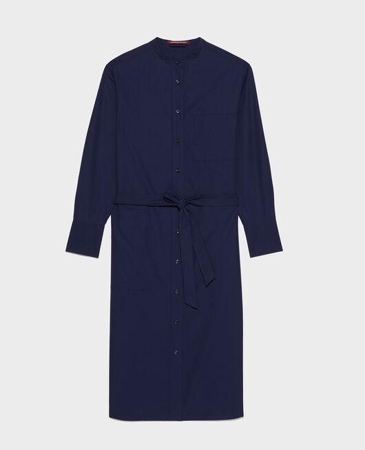 Oversize maxi dress MARITIME BLUE