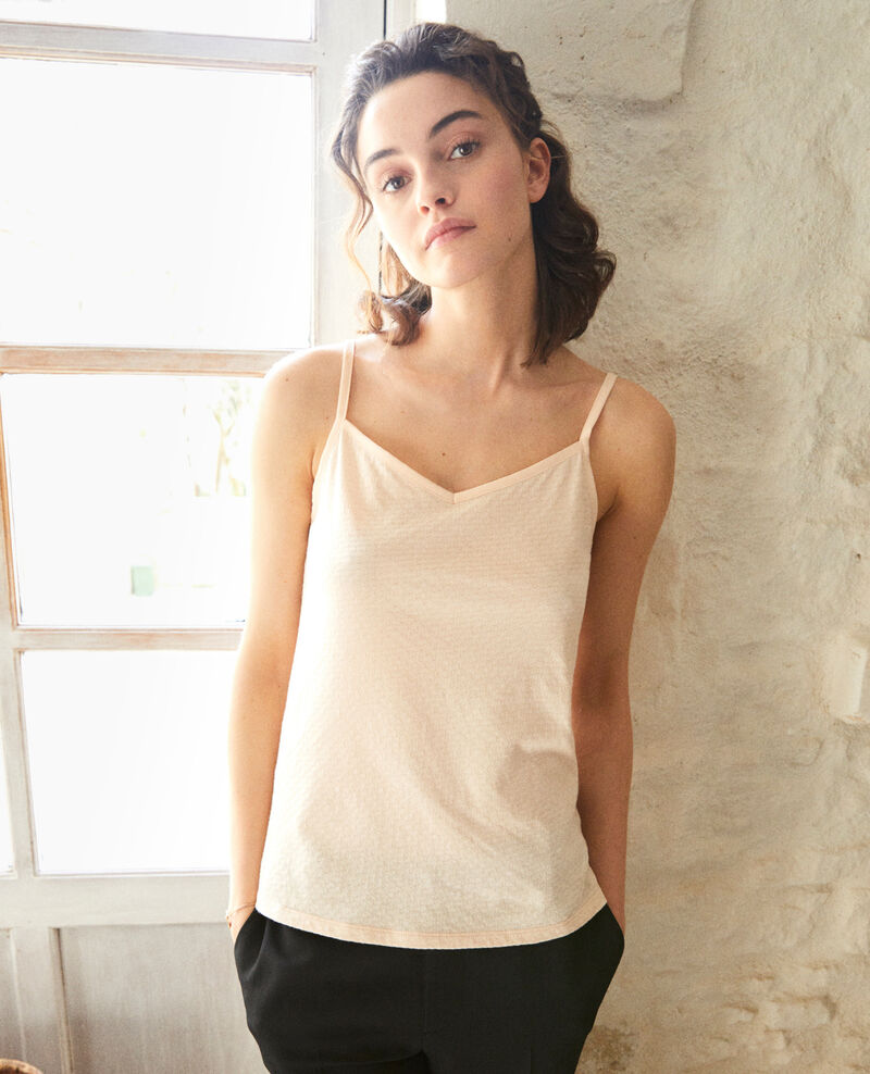 Vest top with spaghetti straps Rose Gagnant