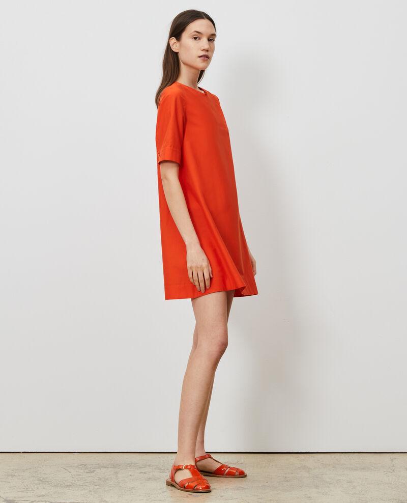 Short cotton and silk dress Pureed pumpkin Nerniere