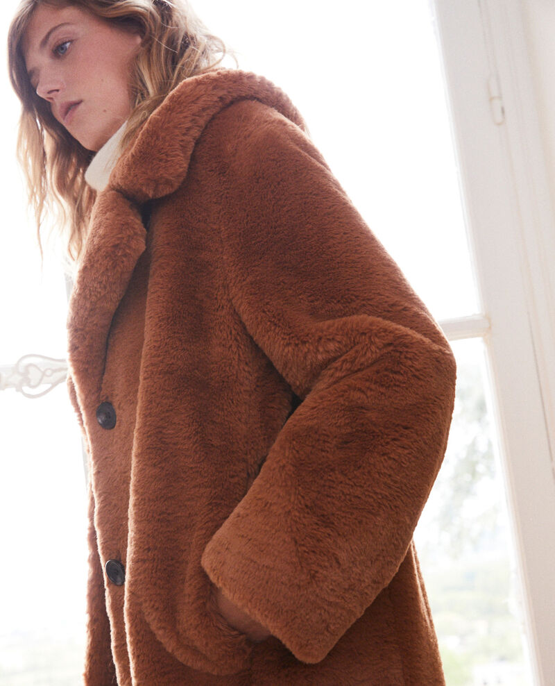 Synthetic fur coat Lion Jaout