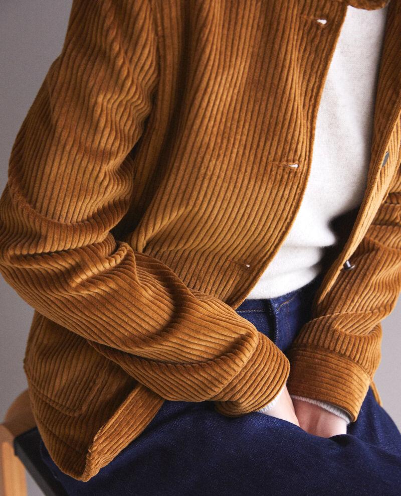 Ribbed corduroy jacket Golden brown Goiseau