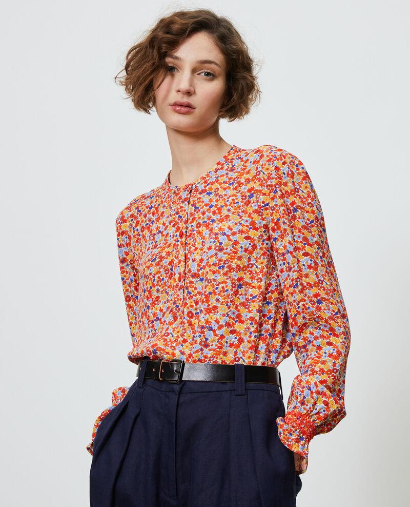 Floral print blouse Garden royalblue Ninu