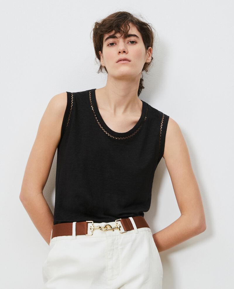 Linen tank top Black beauty Lespa