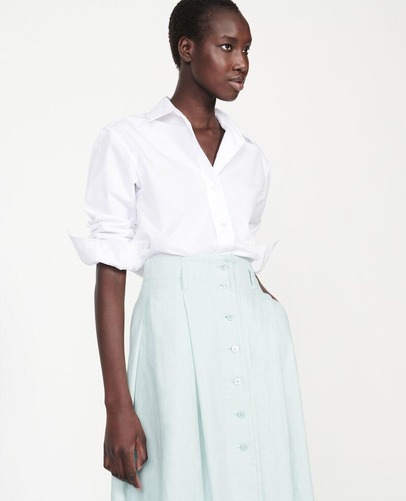 Loose linen skirt Blue haze Lorlange