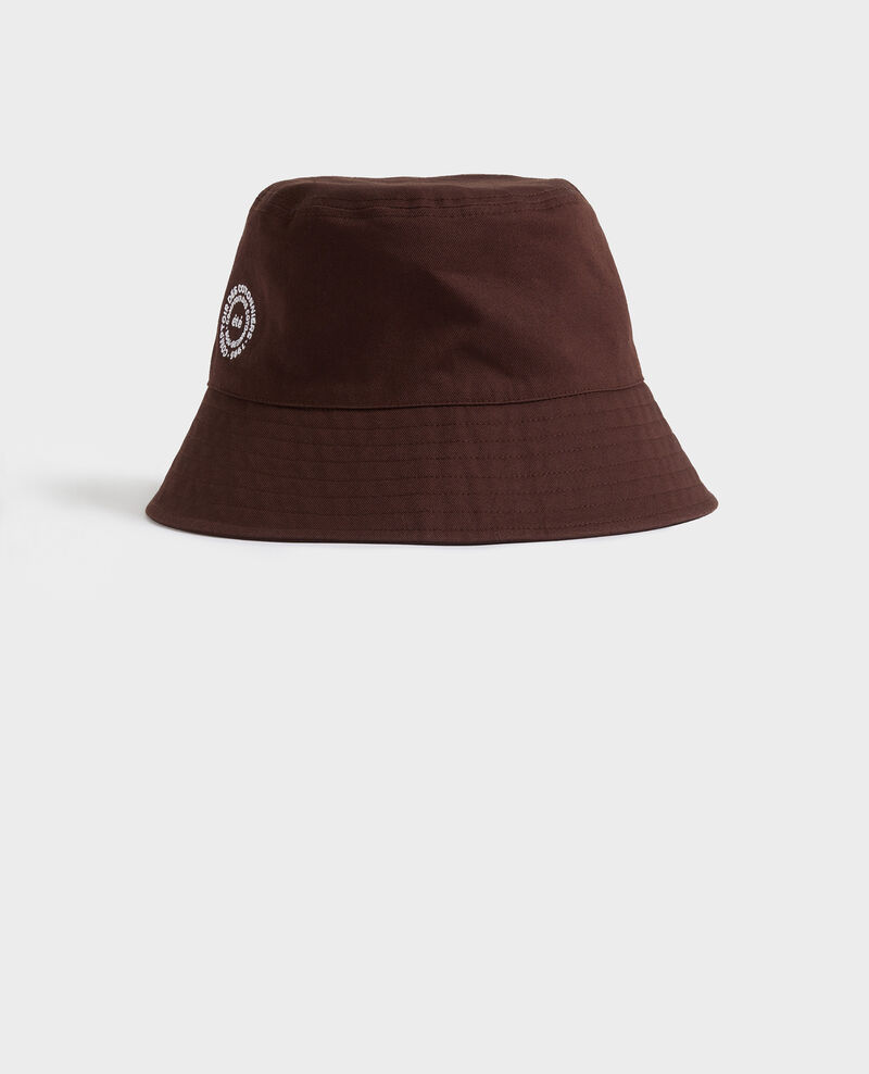 Bucket hat in plain cotton with embroidery Mole Nook