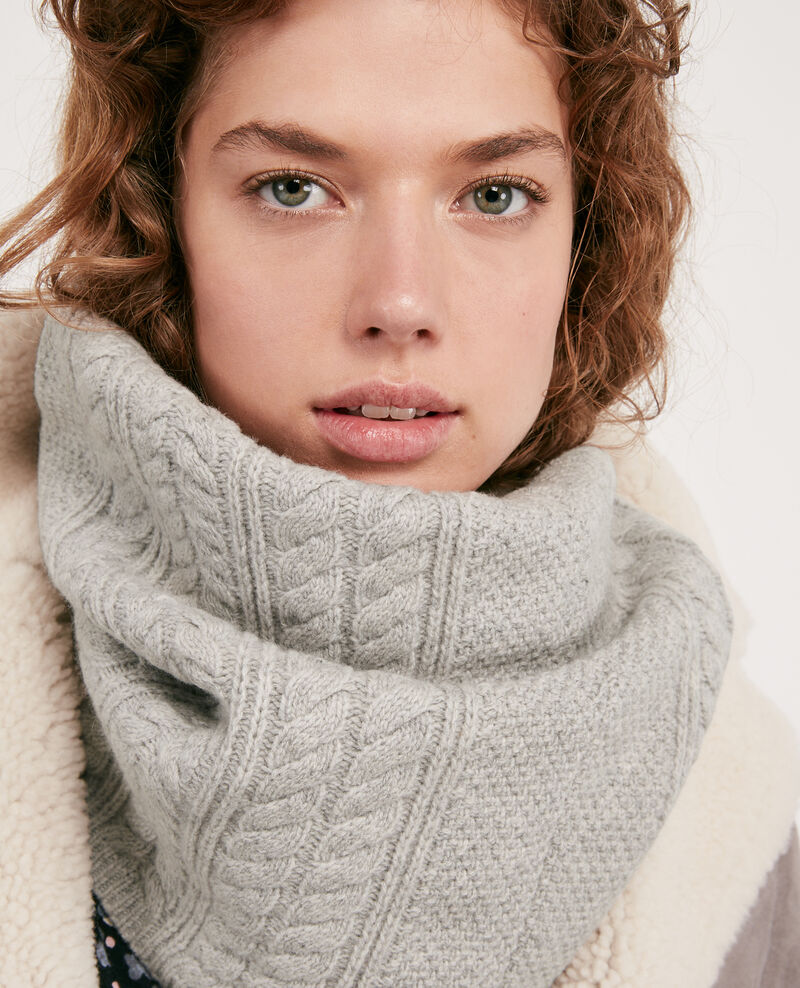 100% Wool snood Light grey Dozer