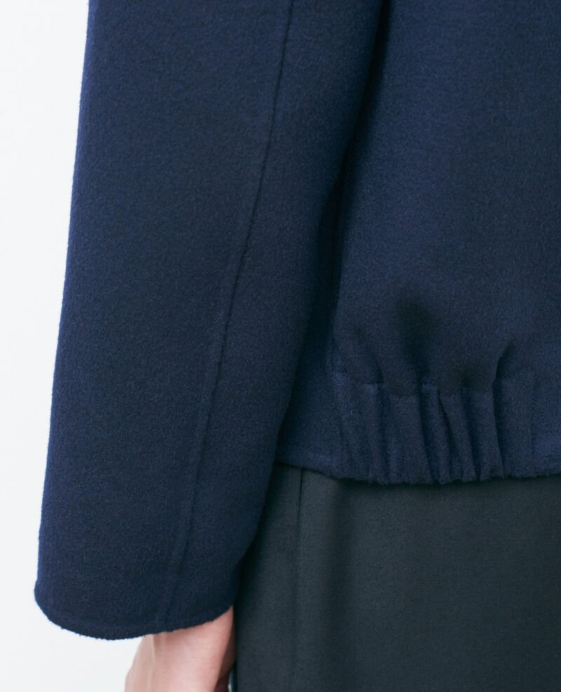 Cropped wool and cashmere jacket Night sky Pauguio