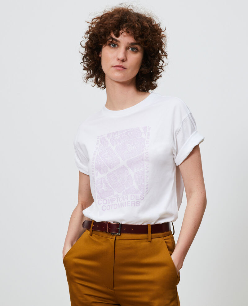 Short-sleeve cotton t-shirt Pastel lilac Marlane