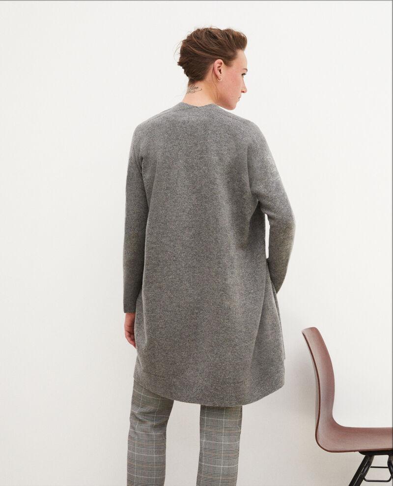 3D cashmere blend cardigan Medium heather grey Gelinda