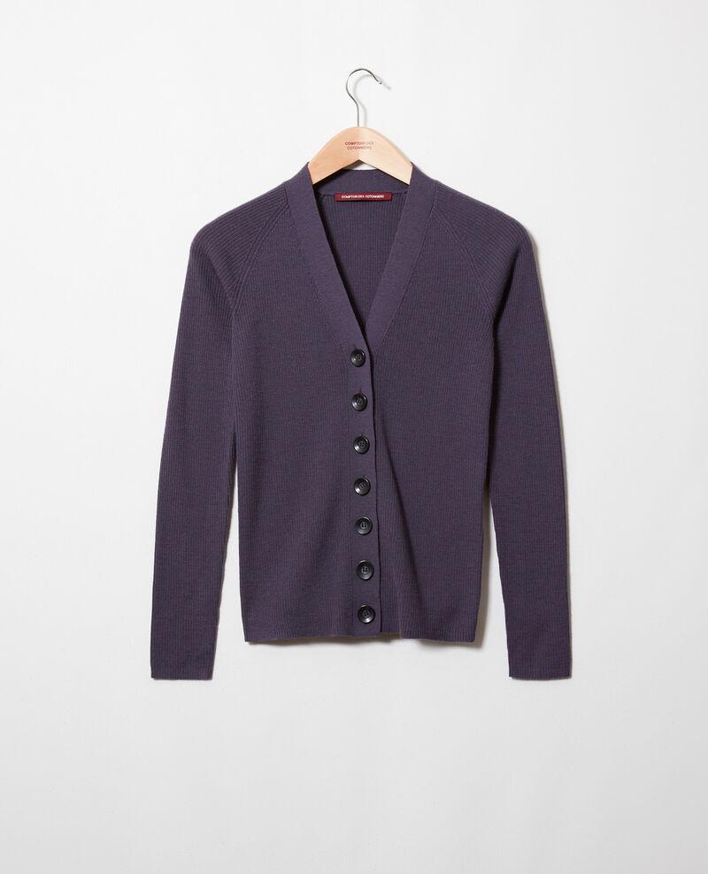 Classic cardigan 100% Merino Wool Odyssey gray Jesse