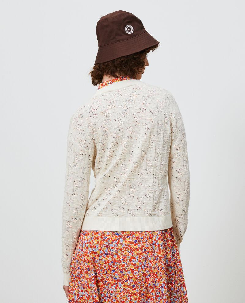 Cotton and linen cardigan Buttercream Lafiora
