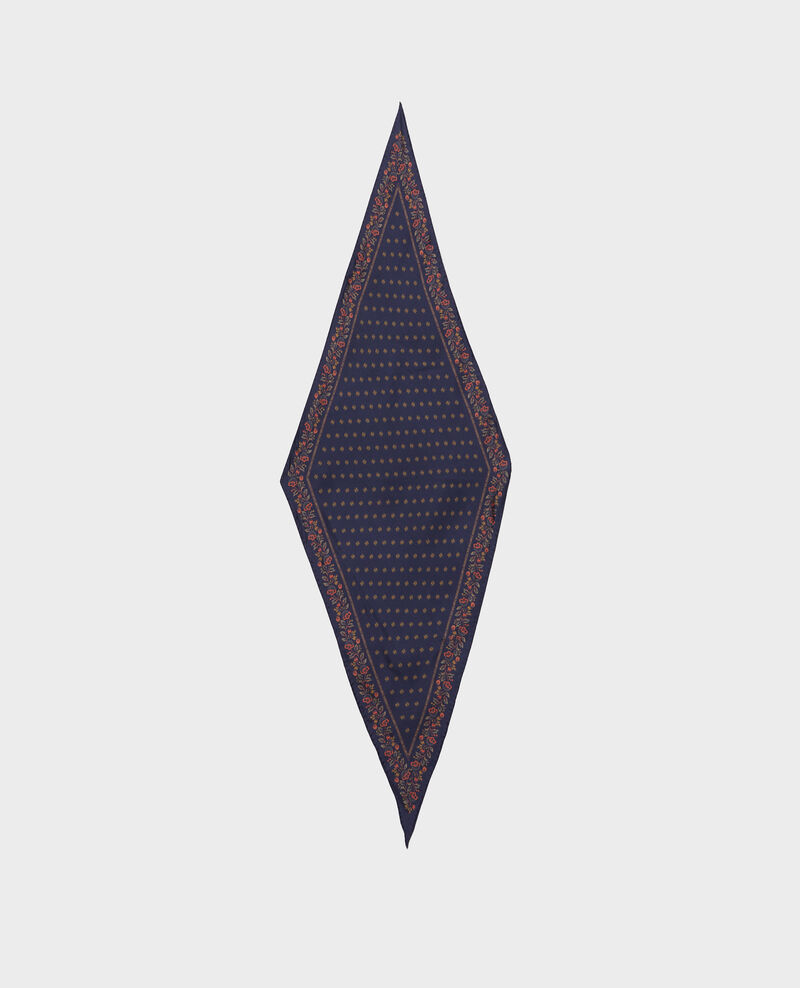 Diamond-shape silk foulard Night sky Nandana