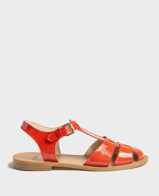 Patent leather sandals FIERY RED