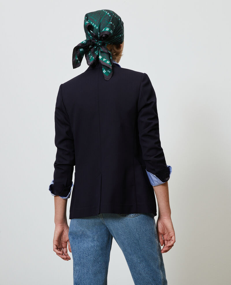 Fitted wool boyfriend blazer Night sky Mesanger