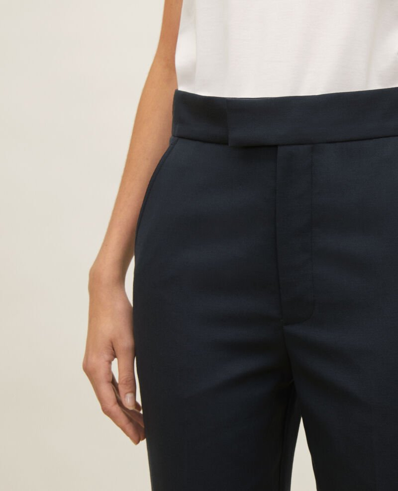 Straight wool boyfriend trousers MARCELLE Dark navy Lisabelle