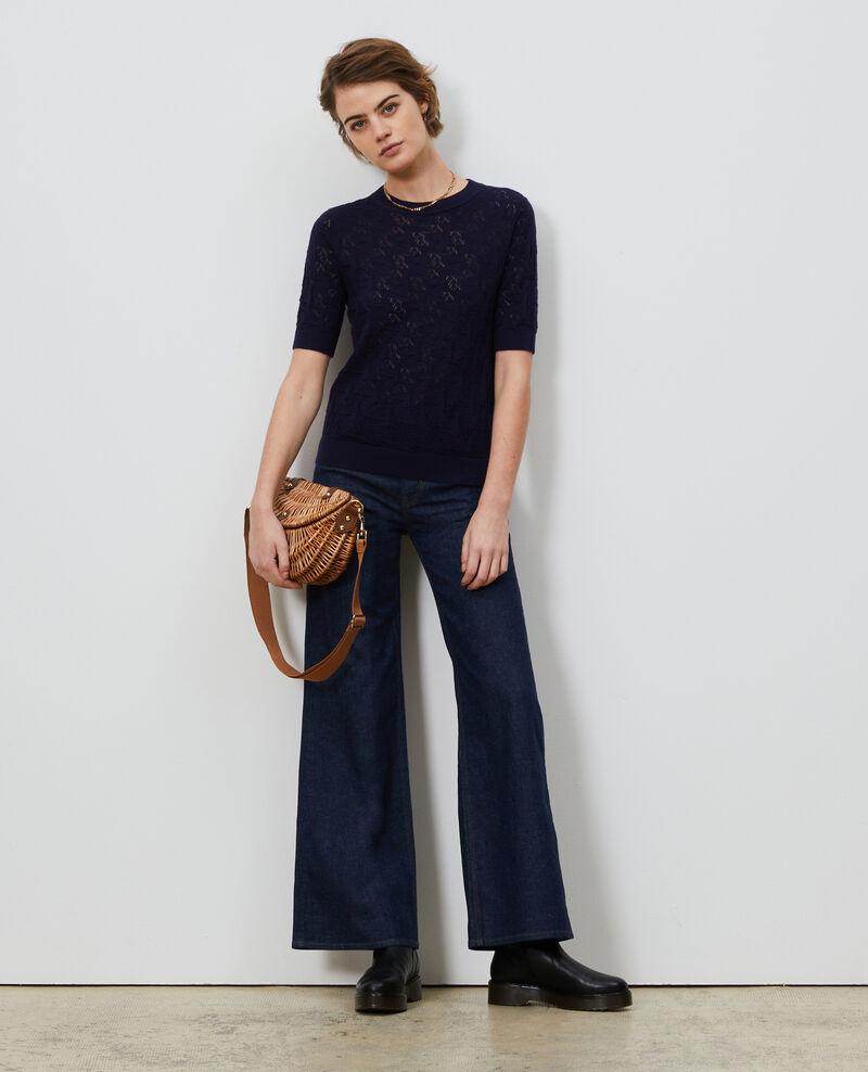 Linen and cotton jumper Maritime blue Lagos