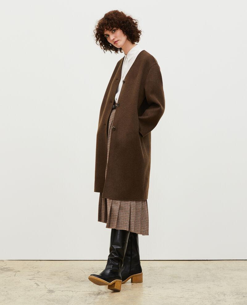 Double-sided wool coat Heather kaki Muuck