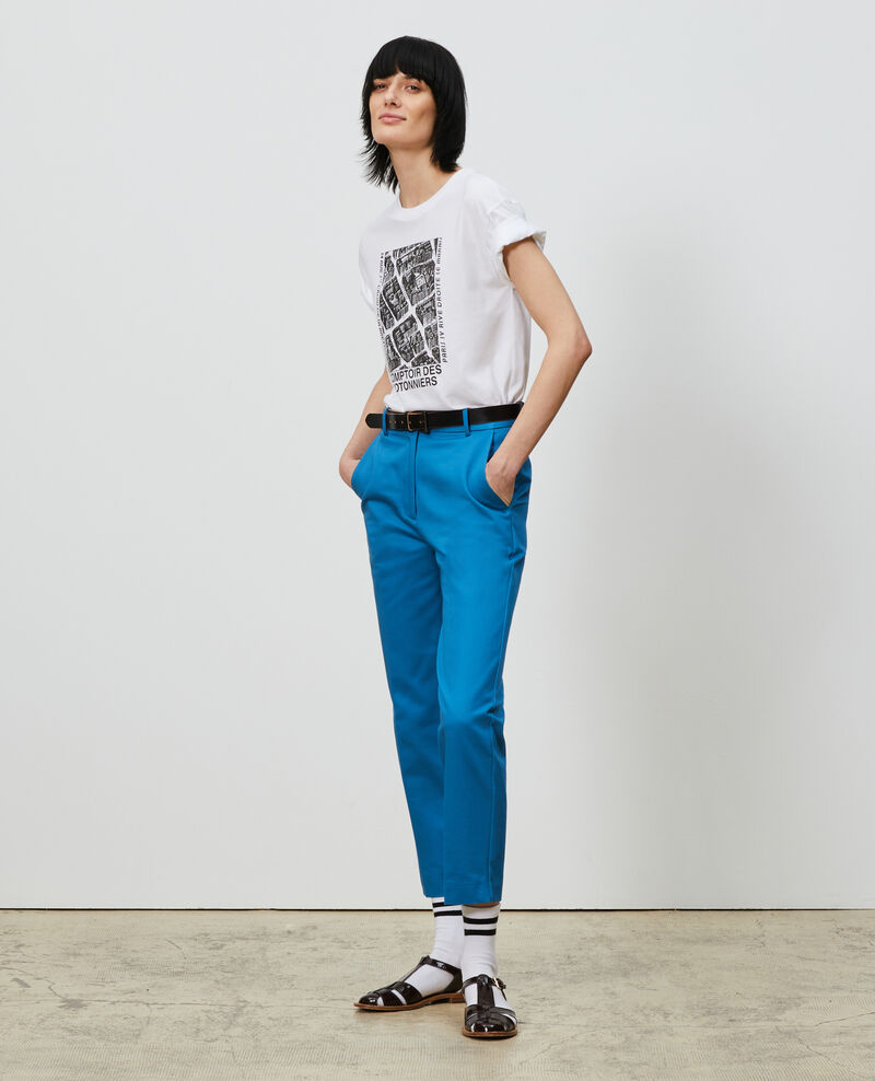 Tapered cotton 7/8 chinos Faience Nezel