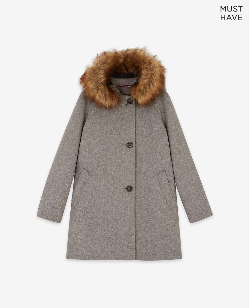 Wool coat Medium heather grey Dalexo