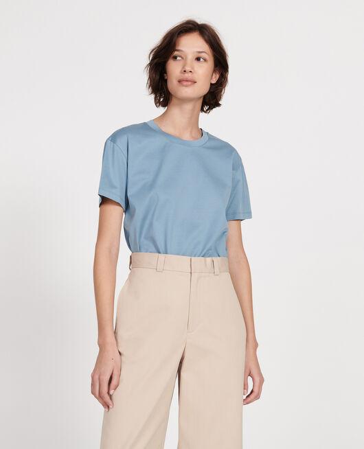 Round neck cotton t-shirt BLUESTONE
