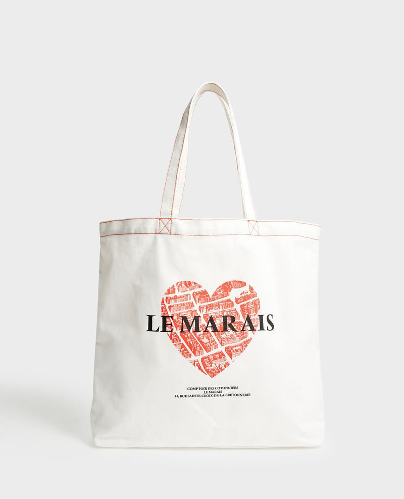Printed canvas bag Valiant poppy Macaron