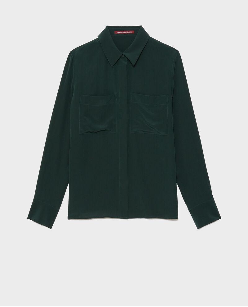 Loose long-sleeve silk shirt Scarab Misabetha