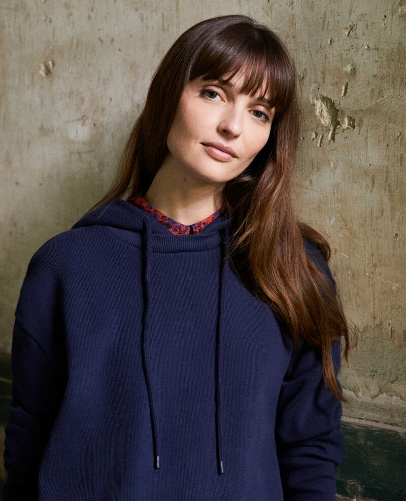 Hooded sweatshirt Dark navy Jasette