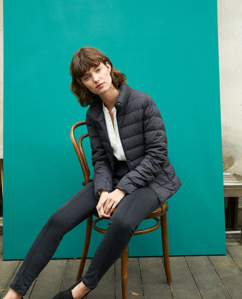 Ultra-light padded jacket with stand-up collar Noir Fuldown