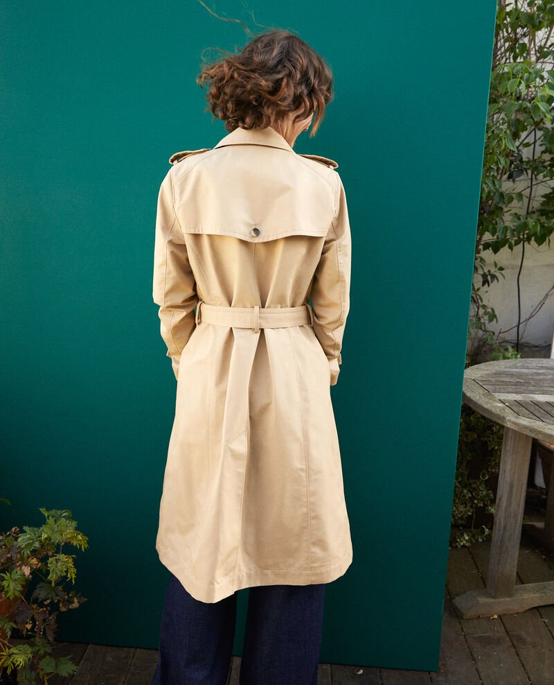 Mid-length trench coat Travertine Gabien