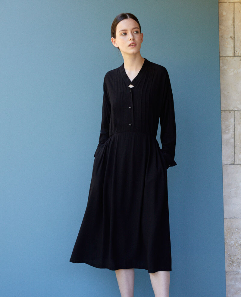 Mid-length dress Black Gevian