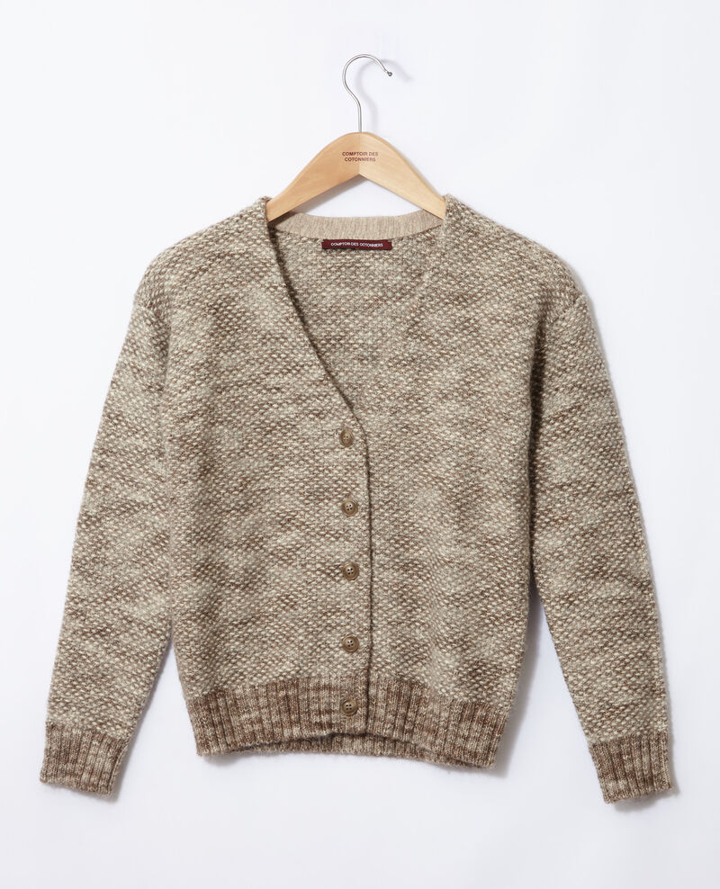 Flecked knit cardigan Grey Gordius