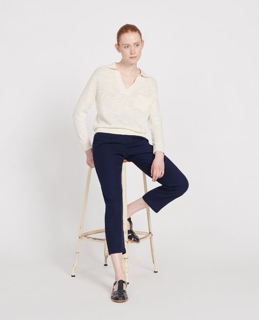 Linen blend jumper GARDENIA