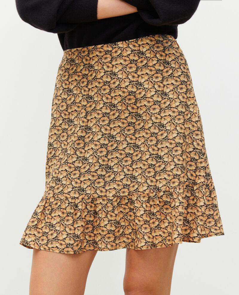 Printed silk mini skirt Print artdeco lemoncurry Mada