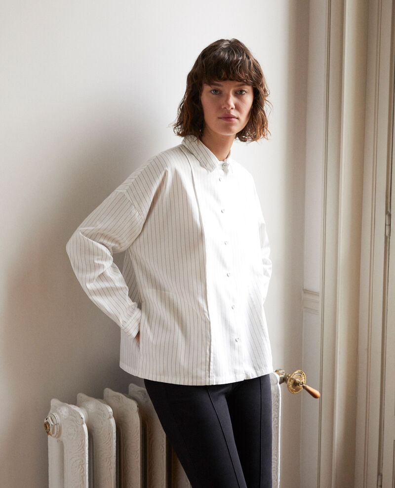 Straight-cut shirt White Goran