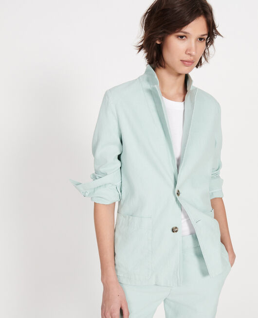 Linen blazer BLUE HAZE