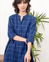 Loose linen dress  Indigo Footing