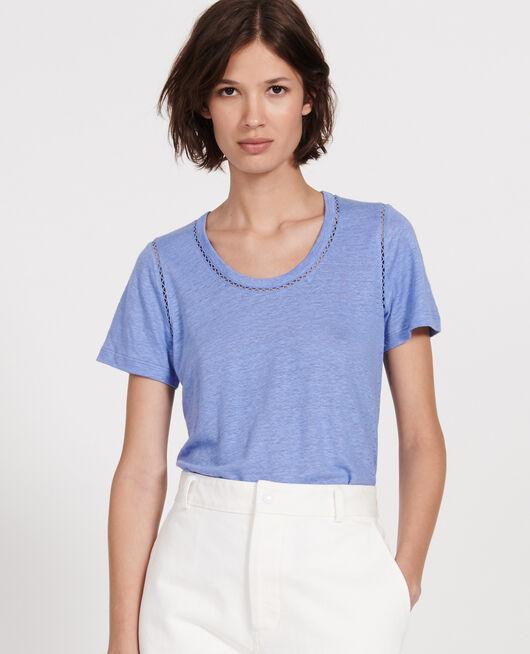Linen jersey T-shirt PERSIAN JEWEL