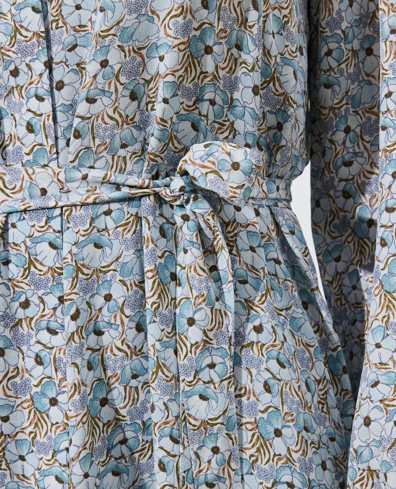 Silk maxi dress Art deco blue Pavisha