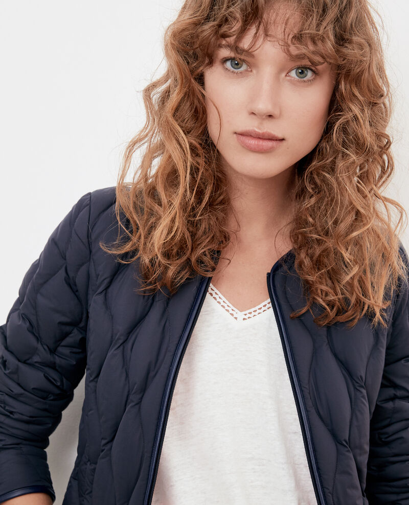Pocketable down jacket Navy/lollipop Folin