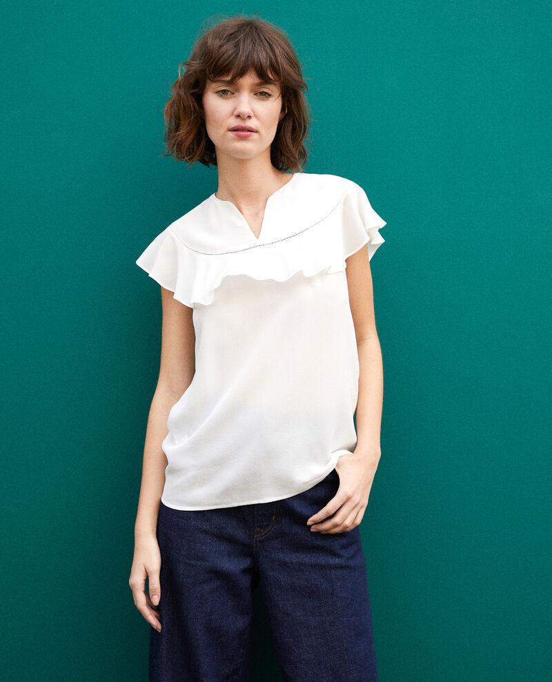 Frilly blouse White Gauche