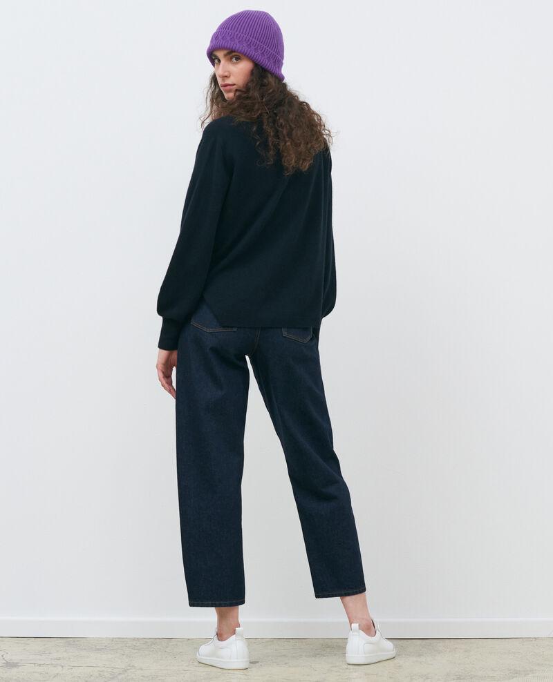 Loose cashmere 3D cardigan Black beauty Paltazar