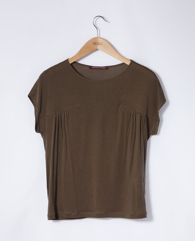 Round neck t-shirt Olive night Gaillet