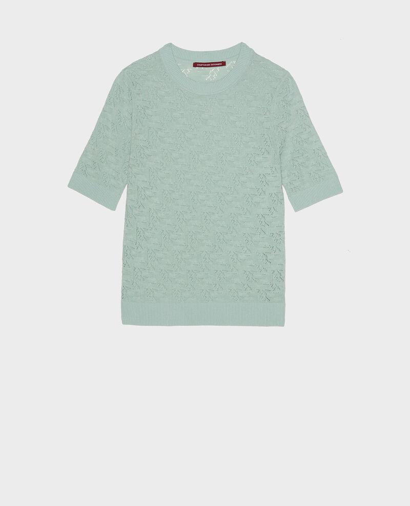 Linen and cotton jumper Blue haze Lagos