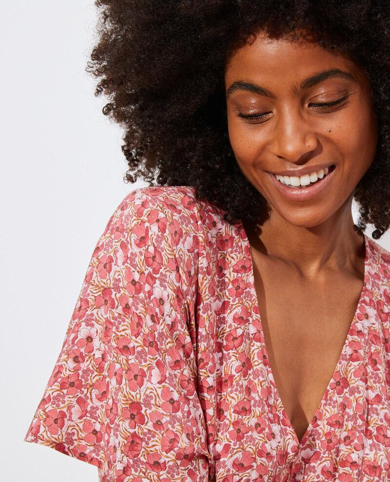 Silk mini dress Art deco pink Pabydoll