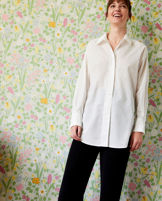 Oversize long shirt COCONUT MILK