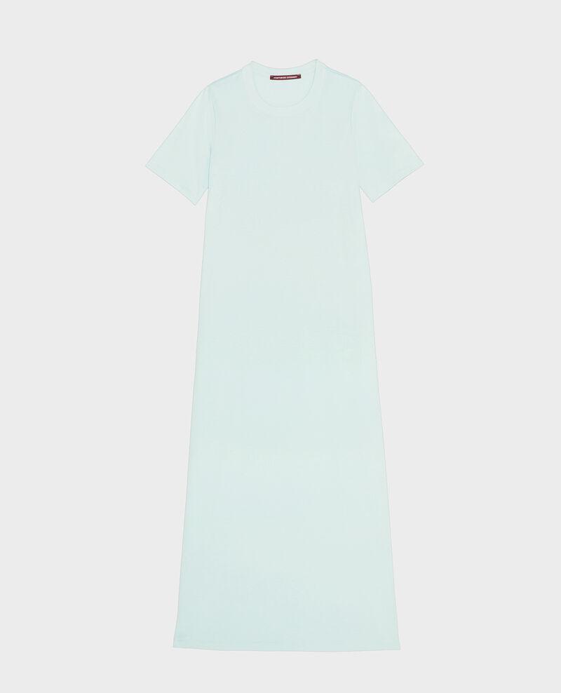 Mercerised cotton maxi dress Blue haze Larosata