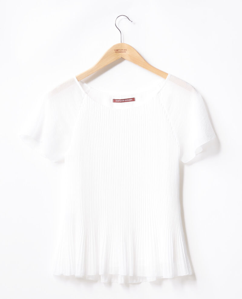 30af18783047 Pleated blouse Blanc - Farouche