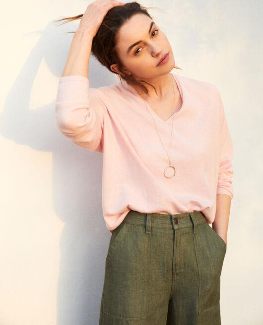 Cashmere blend jumper PINK ICING